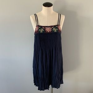 American Eagle Summer Embroidered Strap Dress S